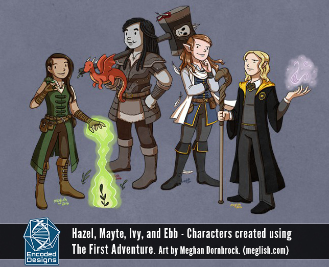 Characters created using The First Adventure